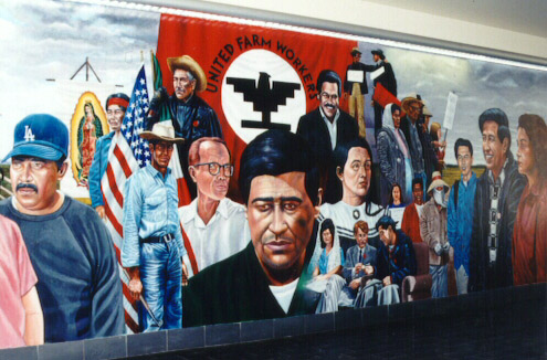 an analysis of the painting of cesar chavez tribute by the artist emigdio vazquez Artist collection a tribute to emigdio vasquez  the legacy of cesar chavez santa ana college 1997  emigdio vasquez, godfather of chicano art occca's exhibit .